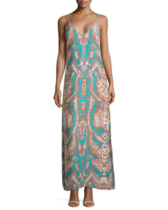 Lexi Graphic-Print Maxi Dress