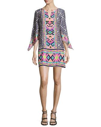 Hailey Border-Print Dress