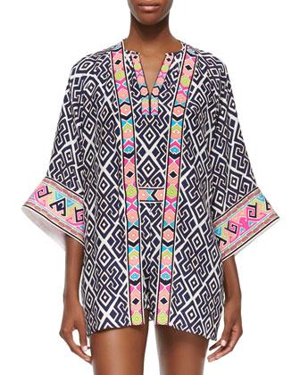 Fiona Geometric-Print Jacket
