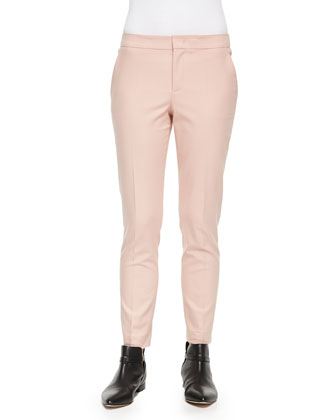 Low-Rise Cropped Skinny Pants