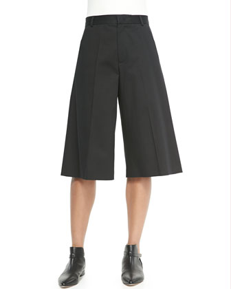 High-Waist Gaucho Pants