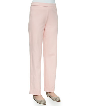 Stretch Interlock Pants, Blossom Pink