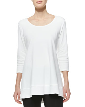 Interlock-Knit High-Low Tunic
