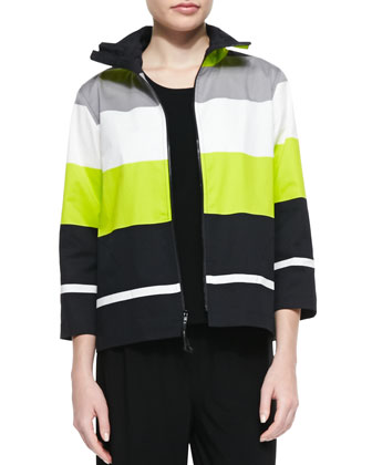 Limelight Striped Zip Jacket, Petite