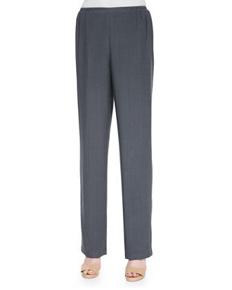 Cabo Knit Straight-Leg Pants