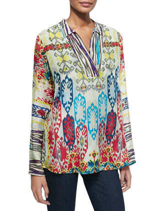 Winx-Print Long-Sleeve Tunic, Women's