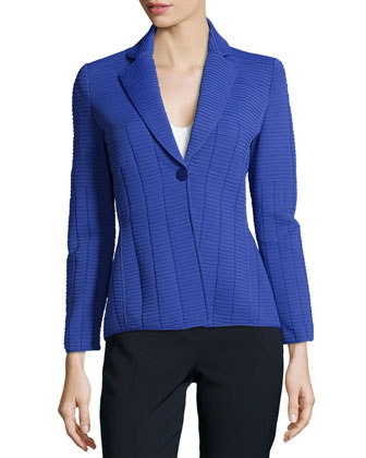 Ottoman-Inspired Pleated Cobalt Jacket