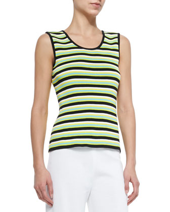 Striped Scoop-Neck Tank, Women's