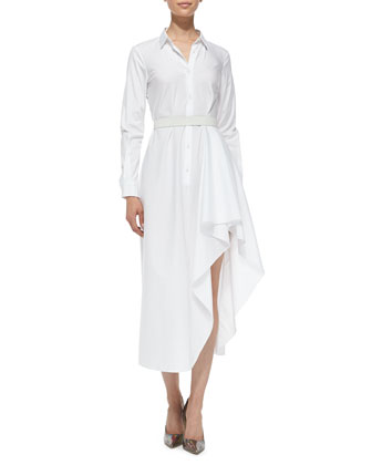 Diaz Poplin Runway Long-Sleeve Dress
