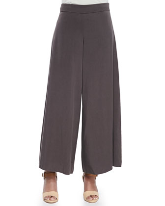 Twill Wide-Leg Pants, Women's
