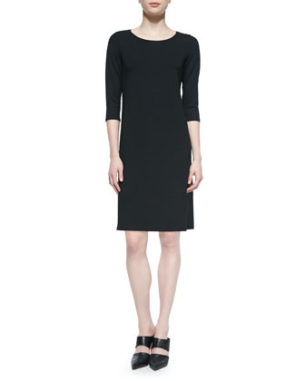 3/4-Sleeve Jersey Dress, Women's