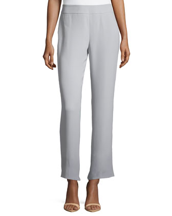 Flat-Front, Cropped China Pants