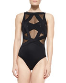 Esther Strappy Mesh One-Piece Swimsuit