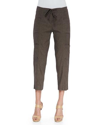 Cropped Cargo Pants, Rye, Petite