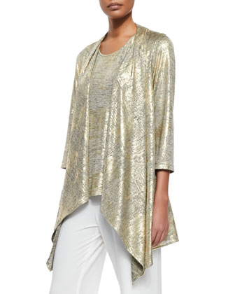 Luminous Jersey Draped Jacket, Luminous Long Tank & Stretch-Knit ...