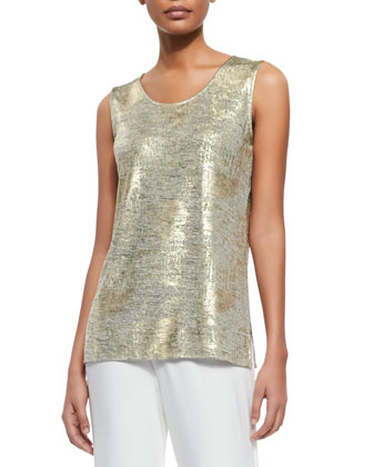 Luminous Long Tank, Gold/Multi, Women's
