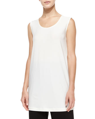 Knit Tunic/Tank, White, Women's