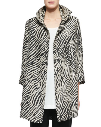 Safari Party Long Jacket, Knit Tunic/Tank & Stretch-Knit Slim Pants
