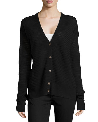 Stitched V-Neck Cardigan