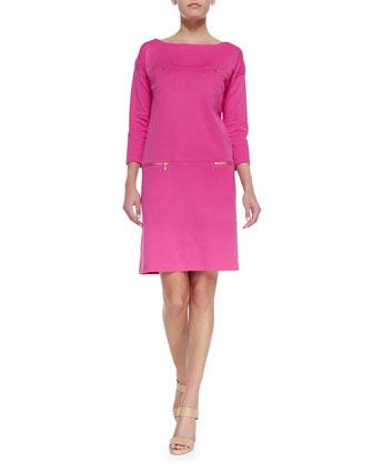 Interlock-Knit Two-Pocket Dress