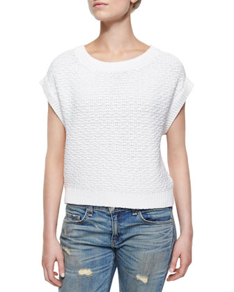 The Addie Ribbed-Trim Sweater