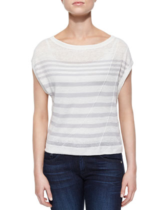 The Christa Striped Slub Top