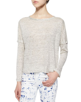 The Deal Linen Long-Sleeve Tee & The Skinny Brushstroke-Print Jeans