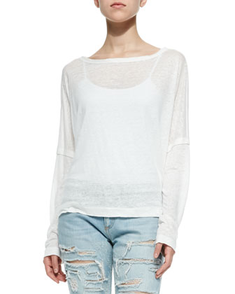 The Deal Long-Sleeve Slub Tee & The Dre Destroyed Relaxed Jeans