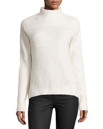 Mock-Neck Sweater, Bone