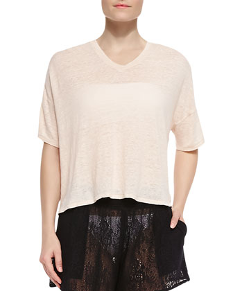 Oversize V-Neck Coverup Tee