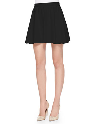 Blaise Pleated Flared Poplin Skirt