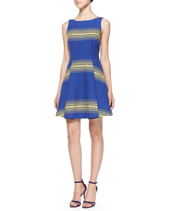 Holis Striped Jacquard A-Line Dress