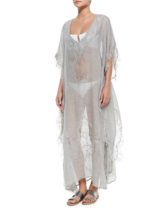 Tivoli Gauze/Lace Long Caftan Coverup
