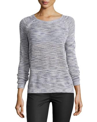 Space-Dye Raglan-Sleeve Sweater