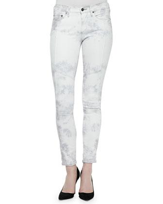 Halle Tie-Dye Moto Skinny Jeans