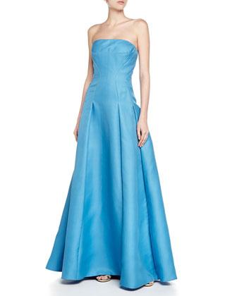 Strapless Silk Gazar Ball Gown