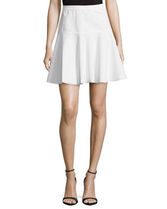 Fit & Flare Ponte Skirt, Linen White