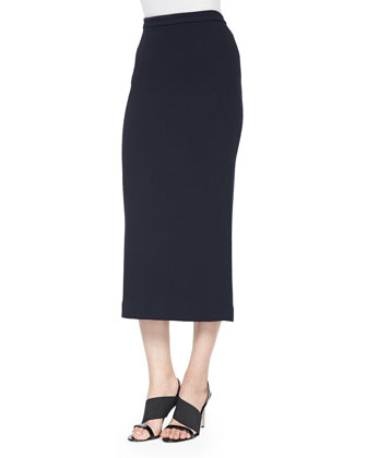 Mike Tiered Sleeveless Top & Jamie Long Pencil Skirt