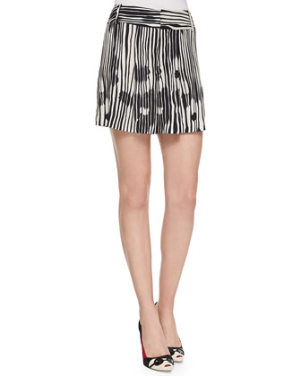 Danea Printed Cap-Sleeve Crewneck Top & Long Printed Wide-Leg Shorts