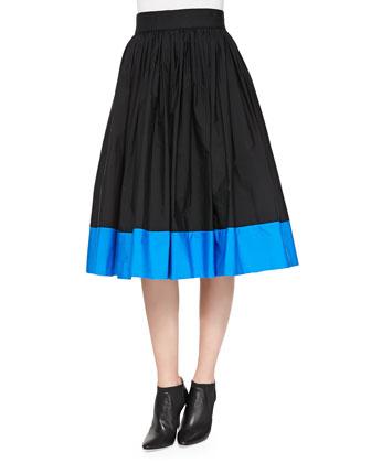 Nako Full Contrast-Hem Skirt