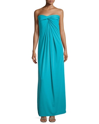 Strapless Twisted Gown, Caribbean