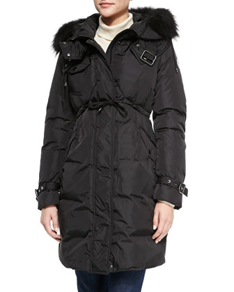 Phalan Fur-Trim Puffer Coat