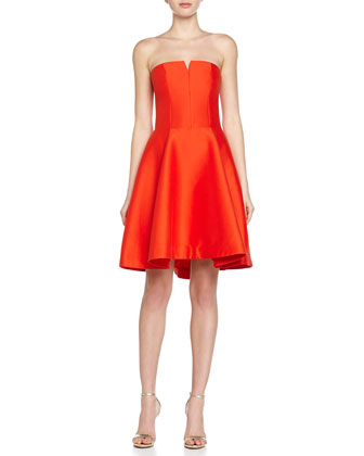 Strapless Fit-and-Flare Dress, Fire