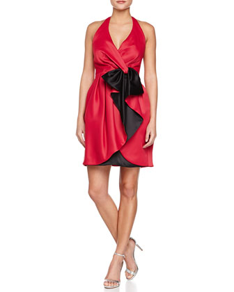 Halter Dress with Wrap Front