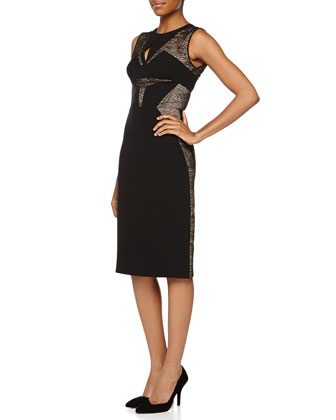 Sleeveless Sheath Dress W/ Lace