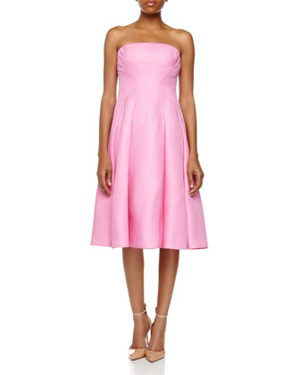 Strapless A-line Dress, Sea Pink