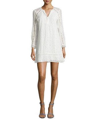 Drifter Long-Sleeve Lace Dress