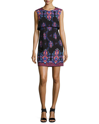Jodhpur Sleeveless Printed Mini Dress