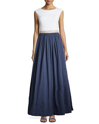 Jersey Bodice & Taffeta Skirt Gown