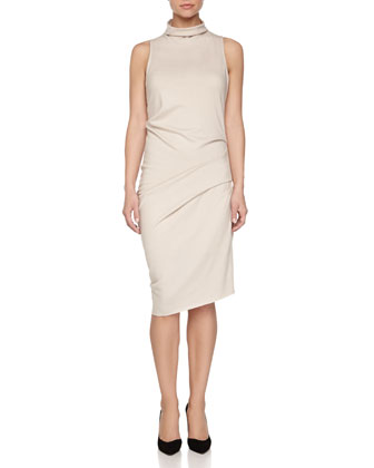 Sleeveless Cowl-Neck Dress